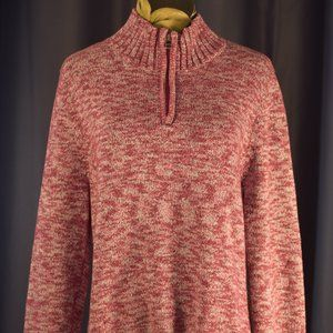 Croft and Barrow Pink/Red Half-Zip Sweater M